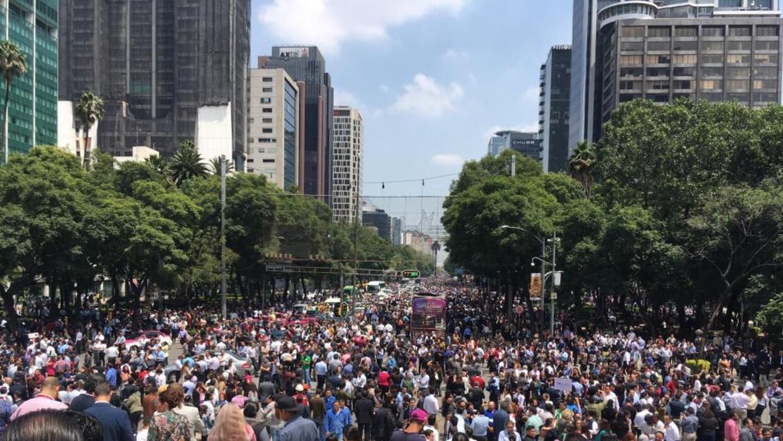 Mexico City's Reforma Avenue after Sept 19 earthquake