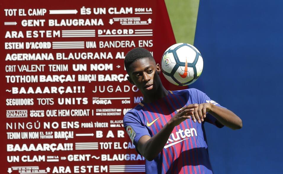 Ousmane Dembélé vuelve a los entrenamientos con Barcelona AP_17240472331...