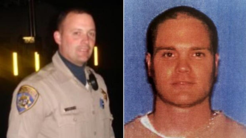 A la izquierda, el OficialKenyon Youngstrom de37 años de Fairfield y a...