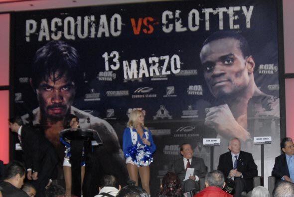 La gira de promoción del combate entre Manny Pacquiao y Joshua Cl...