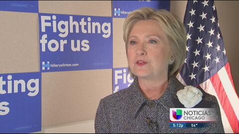 Hillary Clinton habla en exclusiva con Univision a sóló horas de las pri...