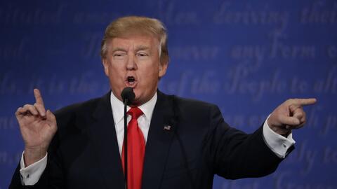 Trump durante el tercer debate.