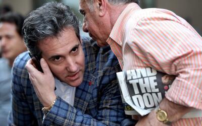 Michael Cohen, abogado personal de Trump, en Nueva York días desp...