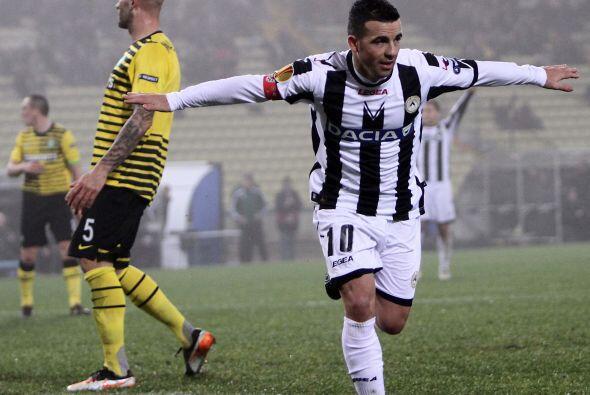 Y su goleador Antonio Di Natale fue el encargado de igualar las cosas.