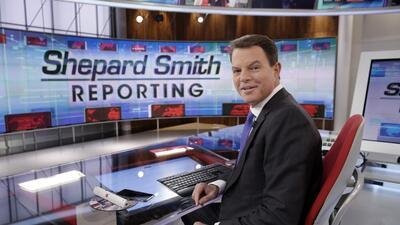 Shepard Smith en su estudio de Fox News en Nueva York.