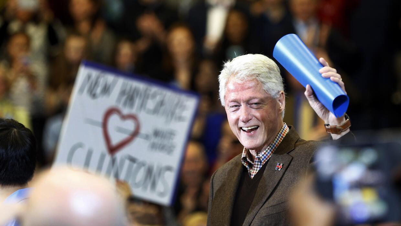 Bill Clinton en Nashua, Nueva Hampshire