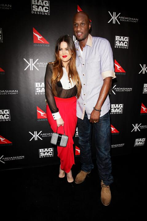 Khloé con Lamar Odom.