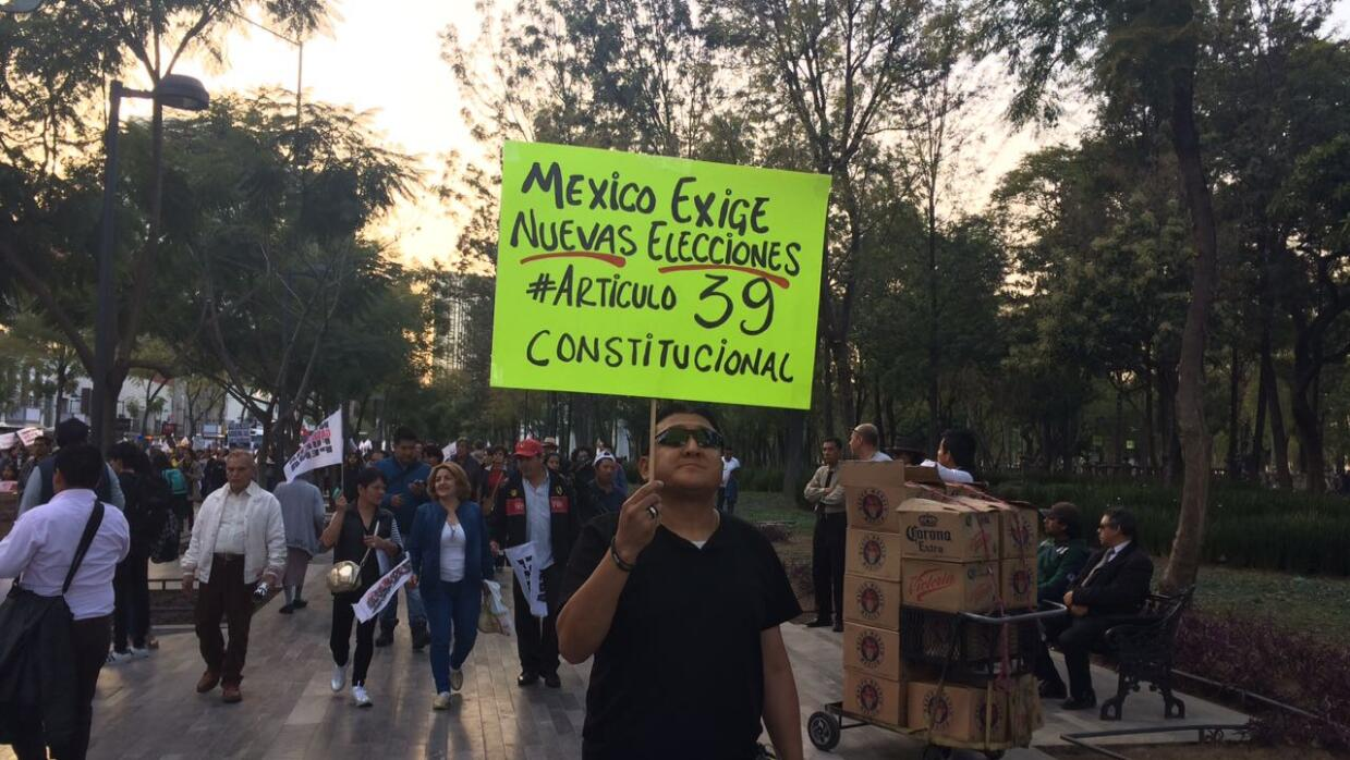 Protesta contra 'gasolinazo'