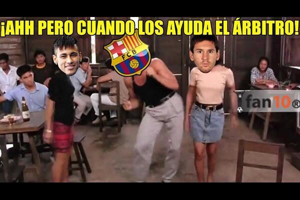 Los usuarios se burlaron de la eliminación del Barcelona de la Champions.