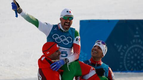 El esquiador mexicano volvió a casa tras conseguir uno de los mom...