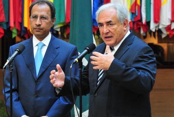 El director general del Fondo Monetario Internacional (FMI) Dominique St...