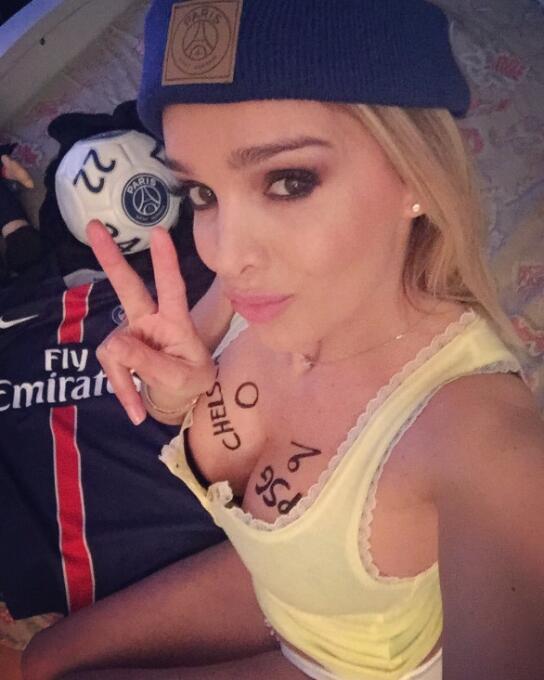 La espectacular francesa es una ferviente aficionada al fútbol y desea q...