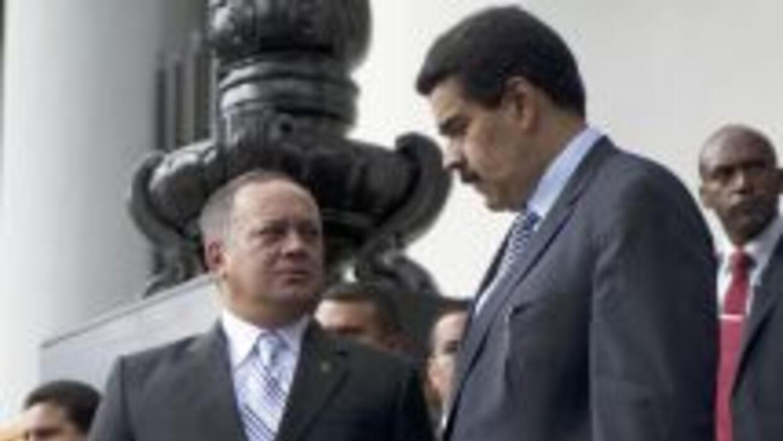Diosdado Cabello y Nicolás Maduro.