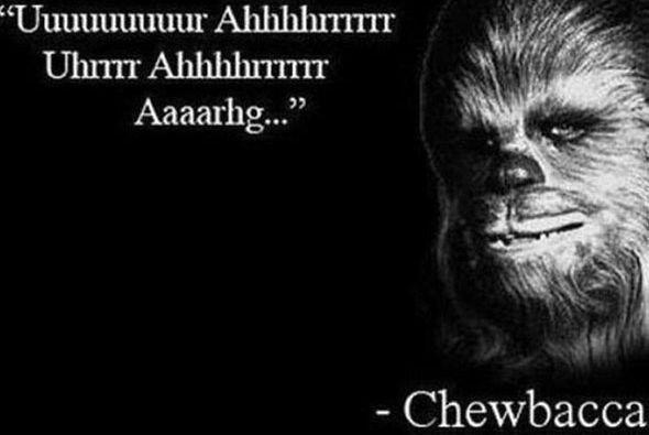 Rápidamente le pidieron una declaración a Chewbacca y esto tuvo que decir.