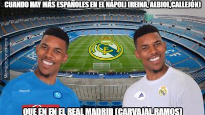 Los memes del triunfo del Madrid en casa ante el Napoli