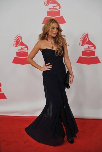 Este elegante vestido fue el que lució en Latin GRAMMY 2011 durante la g...