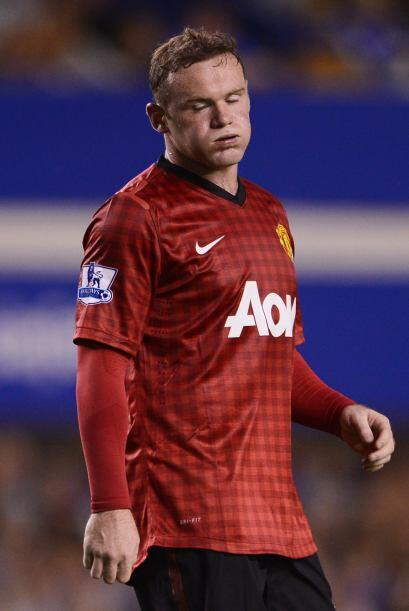 Wayne Rooney, el líder del ataque del United, estaba muy por debajo del...