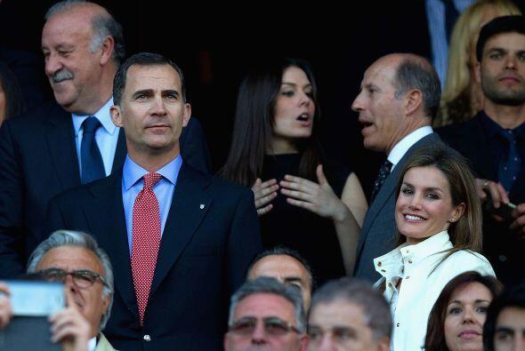 El príncipe Felipe, uno de los colchoneros de mayor perfil, asist...
