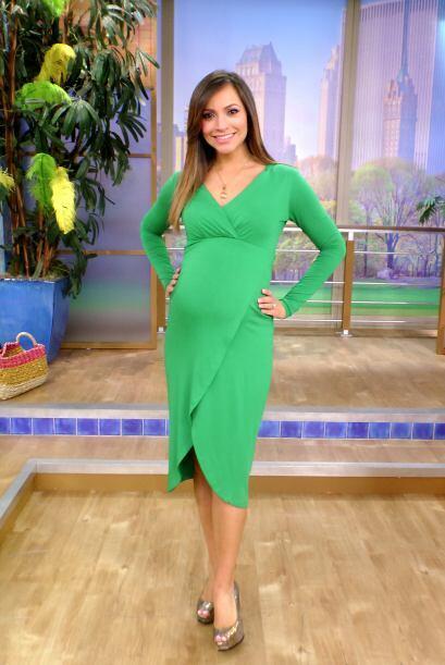 Satcha Pretto lista para dar la bienvenida a la semana 36 de su embarazo.