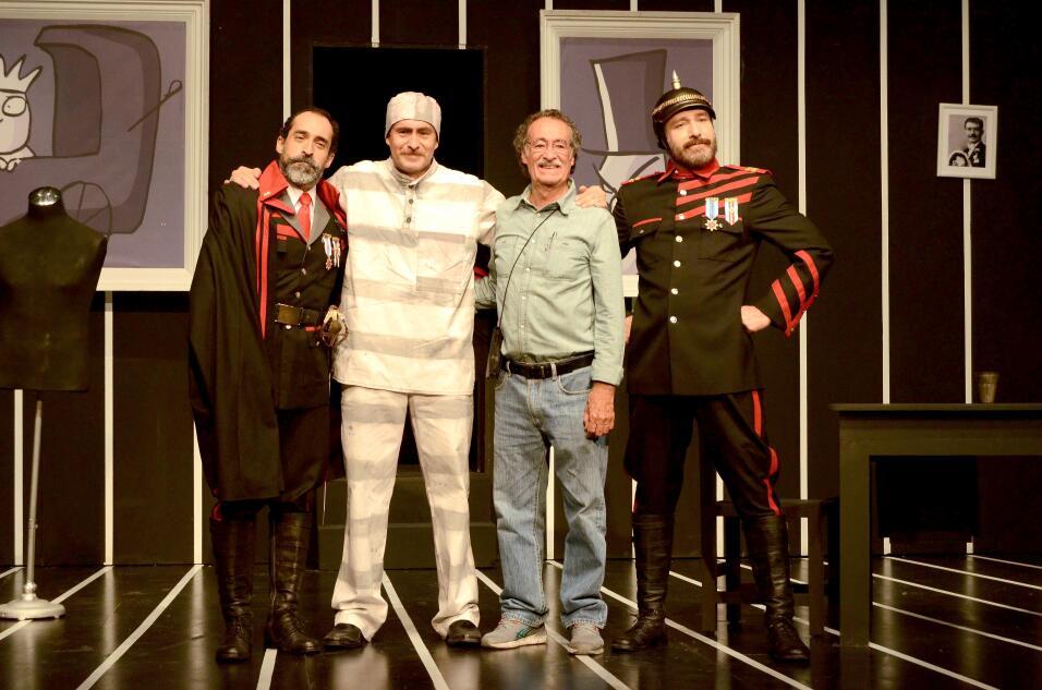 Los hermanos Bichir, Demián, Odiseo y Bruno, actúan juntos en la puesta...