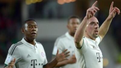 Ribery abrió la cuenta en el fácil triunfo de los bávaros, para sí coloc...