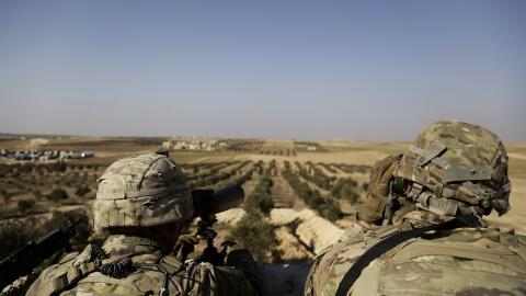 Soldados estadounidenses en Siria.