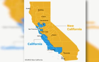 California se quedaría con 14 condados y New California con 44.