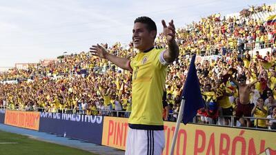 James Rodríguez comandó goleada de Colombia sobre Camerún