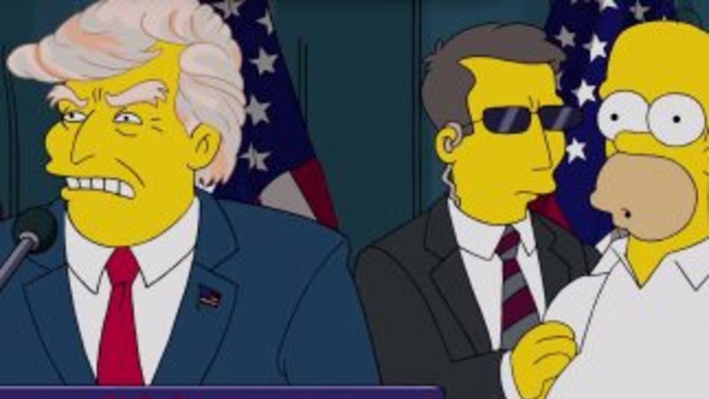 Homer Simpson y Trump (Fox).