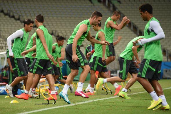 Fue un entrenamiento abierto, donde el equipo simplemente hizo ejercicio...