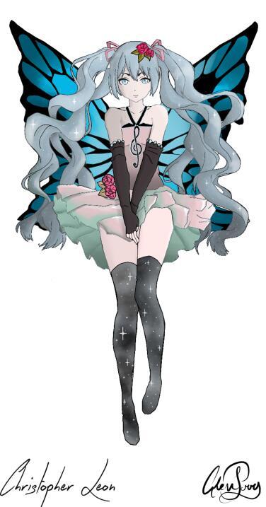 Dibujo de manga japonés realizado por Christopher León
