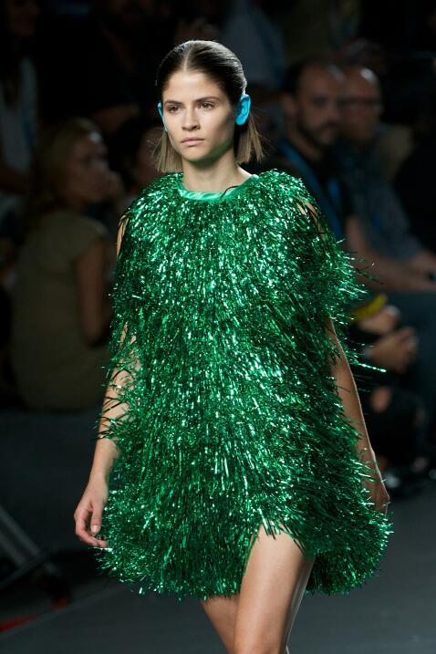 vestido verde davidelfin