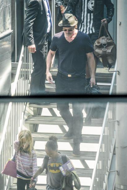 Todos los hijos de Brad y Angelina los acompañaron.