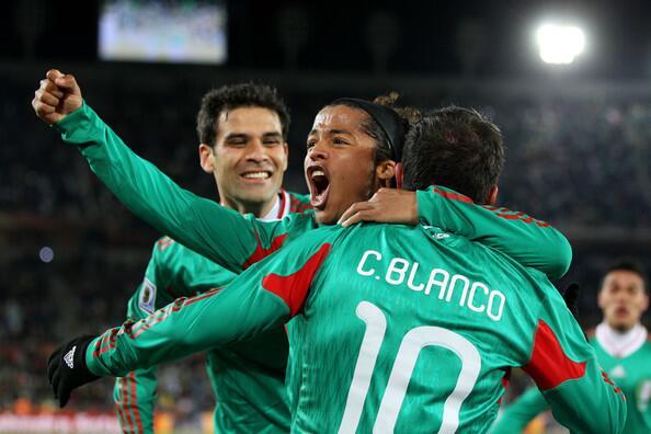 Giovani dos Santos, Rafael Marquez, Cuauhtemoc Blanco seleccion mexicana