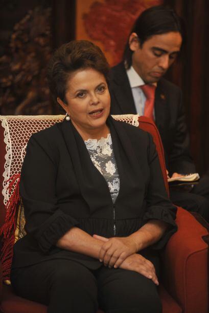 En el Gran Salón del Pueblo, que es la sede del parlamento, Rousseff dij...