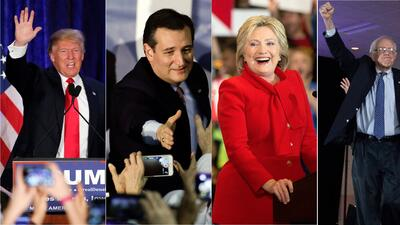 Ganadores y perdedores en el caucus de Iowa