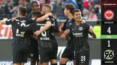 Eintracht golea al Hannover sin presencia de Fabián ni en la banca