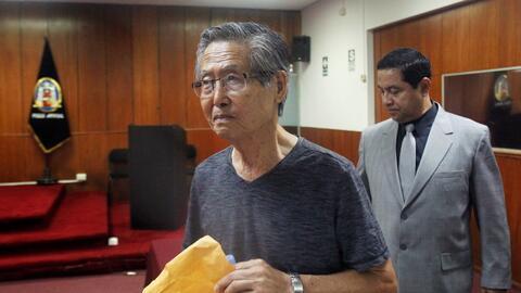 El expresidente de Perú Alberto Fujimori en una corte de Lima en...