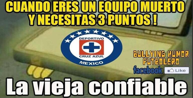 La jornada 12 recién comienza y los memes ya se burlan de Cruz Azul.