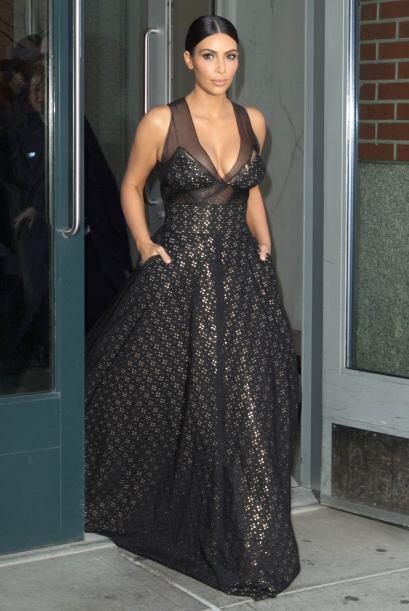 Kim Kardashian y Kanye West iban en rumbo a un evento de la revista TIME.