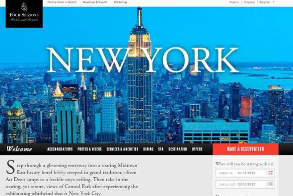 4. FOUR SEASONS NEW YORK- La Gran Manzana ofrece una gran variedad de lu...