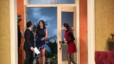 Giselle Blondet llegó presumiendo pierna y sorprendimos a Carlos platicando con el bebé de Ana (fotos)