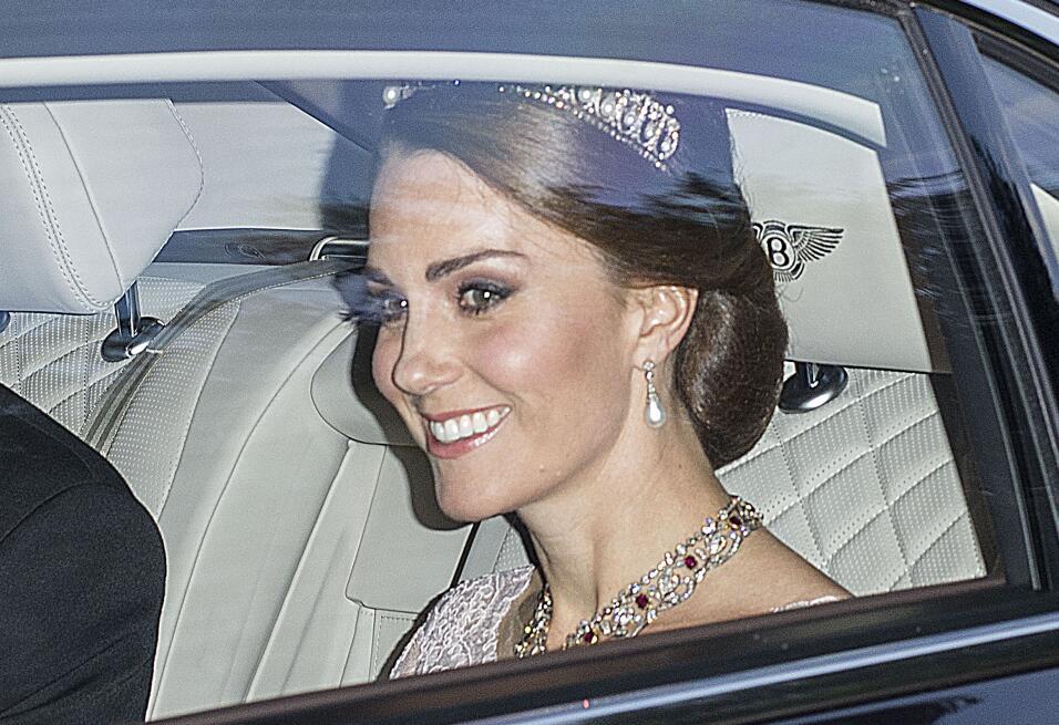 La duquesa de Cambridge asistió a la gala en honor a los Reyes de...