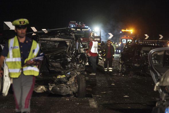 Todos los 10 heridos, entre los que hay 3 niños, fueron trasladados a ho...