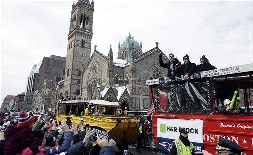 La ciudad desbordó alegría por sus campeones de la NFL (AP-NFL).