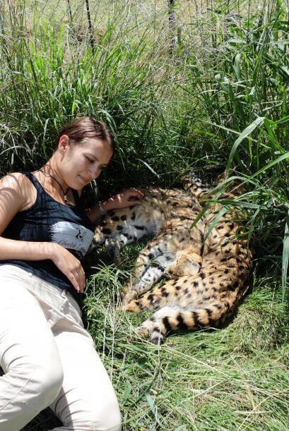 En África la periodista trabajó como voluntaria en un santuario de chita...