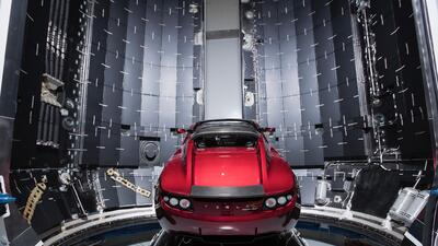 Tesla Roadster al espacio