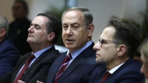 El primer ministro de Israel, Benjamin Netanyahu, durante la reuni&oacut...