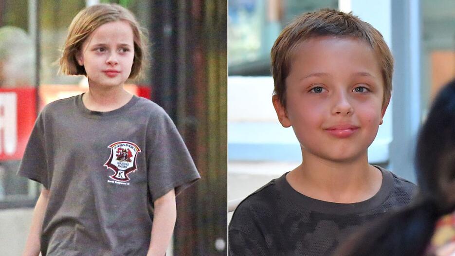 Los gemelos de Angelina Jolie y Brad Pitt
