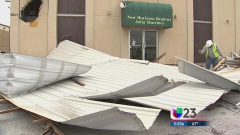 Severos daños tras granizada en el condado Tarrant